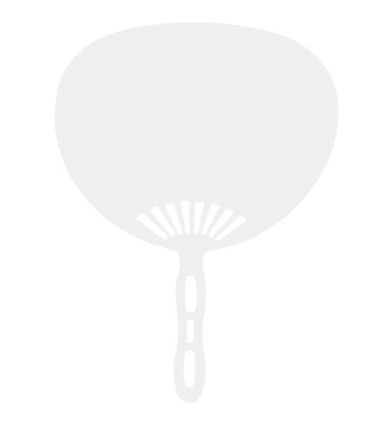 بادبزن تبلیغاتی بادینو (پلاستیکی)-خام